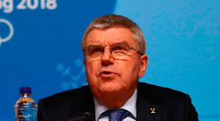 Bach warned over the weekend that boxing's 114-year Olympic status could be reviewed amid fears that the sport faces expulsion from Tokyo 2020, as well as this year's Youth Olympics. Photo: Reuters/Ahmad Masood