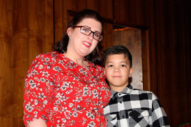 Irish Hero of Hope Amy Mahon, pictured with son Danton, has been recognised by the American Cancer Society