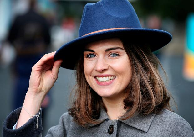 Niamh Flynn from Dungarvan, Co Waterford, at the Leopardstown Races. Photo: Steve Humphreys