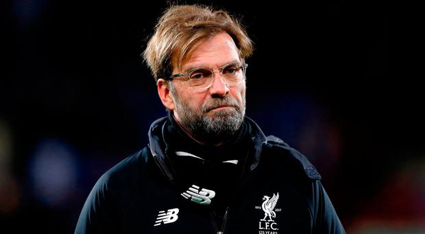 The Liverpool manager tried to keep his irritation in check after the game. Photo credit: Martin Rickett/PA Wire.