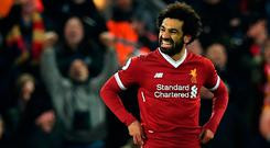 The Egyptian has slotted in seamlessly at Anfield and perhaps that is because he feels as close as possible to a physical representation of Jurgen Klopp's thrillingly aggressive – if frequently profligate – side. Photo: Getty Images