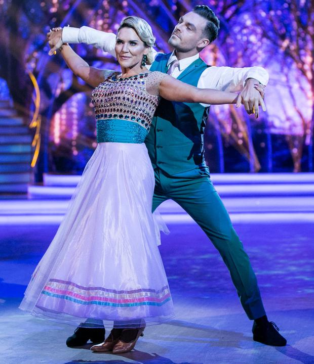Erin McGregor and Ryan McShane during last night's Dancing with the Stars. Photo: Kyran O'Brien