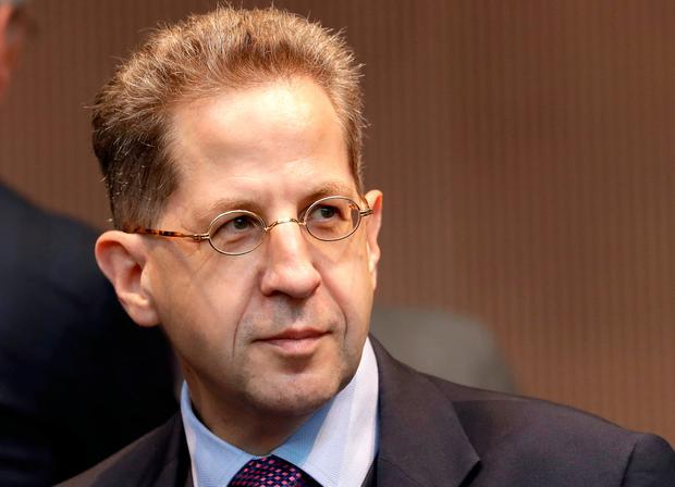 Hans-Georg Maassen, head of the German Federal Office for the Protection of the Constitution. AP Photo/Michael Sohn