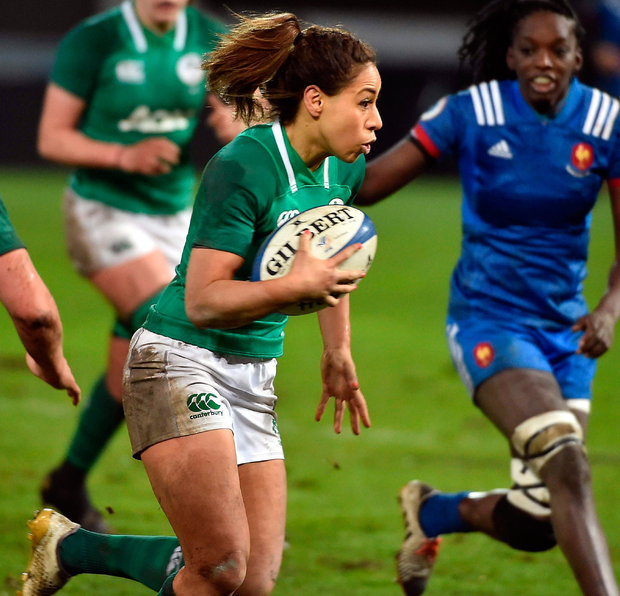 Ireland's Sene Naoupu sets off with the ball. Photo: Getty Images