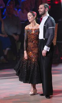 Broadcaster Maia Dunphy and Robert Rowiński who were voted out ,during the Fifth Live show of RTE's Dancing with the Stars. kobpix