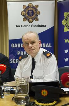 Pictured at The Garda Siochana Press Briefing on Operation Ketch, targeting suspects in possession and distribution of Child Exploitation Material at The Serious Crime Unit at Harcourt Square, was Assistant Commissioner John O'Driscoll. Pic: Colin O'Riordan