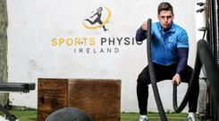Leeroy Keegan going through his paces at the new Sports Physio Ireland clinic in Dublin. Photo: INPHO
