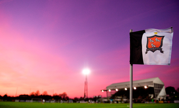 A general view of Oriel Park during Dundalk's clash with Drogheda in the Malone Cup last month Photo: Sam Barnes/Sportsfile