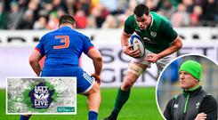 James Ryan in action against France and (inset) he has been likened to Paul O'Connell