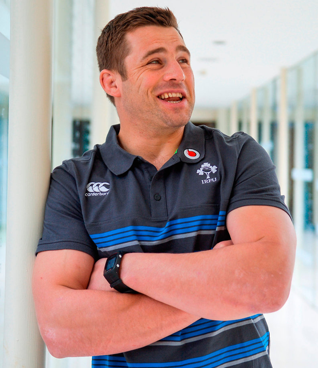 CJ Stander has plenty to smile about as he poses for a portrait picture at Carton House Photo: Piaras Ó Mídheach/Sportsfile