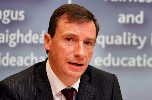Department of Education chief inspector Harold Hislop said he hopes new initiatives will help raise standards in Irish. Photo: Steve Humphreys