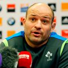 Ireland rugby captain Rory Best. (AP Photo/Michel Euler)