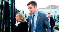 Paddy Jackson arrives at Belfast Crown Court. Photo: PA
