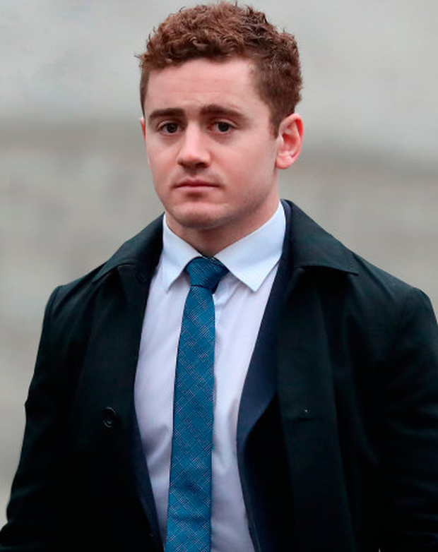 Paddy Jackson arrives at Belfast Crown Court