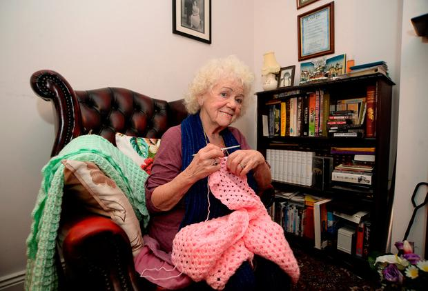 5 Feb 2018; Ireland's Got Talent's Evelyn Williams at home with her crochet. Bolbrook, Tallaght, Dublin. Picture: Caroline Quinn