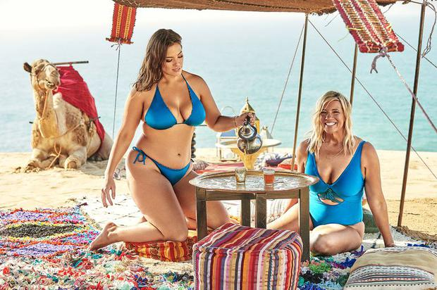 Ashley Graham and mother Linda Graham star in the Swimsuits For All campaign