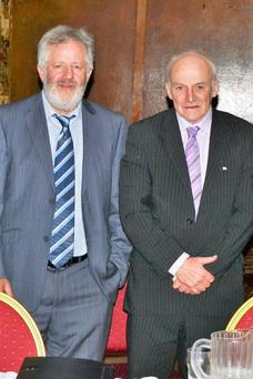 Thomas Gunning and Donie Shine of the Irish Family Farm Rights Group