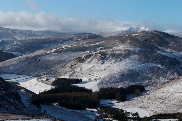 Cold weather conditions on the Wicklow Mountains. Pic Stephen Collins/Collins Photos