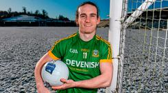 Meath forward Cillian O'Sullivan in Cavan yesterday. Photo: Eóin Noonan/Sportsfile