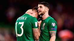 Both Jeff Hendrick and Robbie Brady were produced by St Kevin's Boys. Photo: Sportsfile