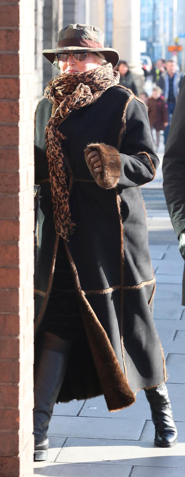 Sallyanne Parker Clarke leaves the Four Courts yesterday after she settled her action. Photo: Collins Courts