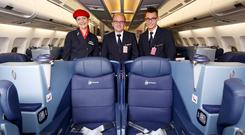 The new business class at Virgin Atlantic includes 'love seats' that are ideal for honeymooners