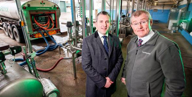 Mark Canning (left) of Danske Bank and Gabriel D'Arcy. Picture: Belfast Telegraph