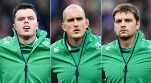 James Ryan, Devin Toner and Iain Henderson are vying for the two starting spots in Joe Schmidt's starting XV