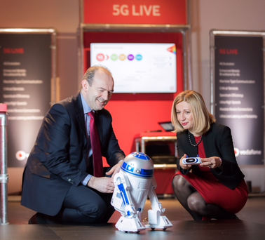 John Griffin, Head of Ericsson Ireland and Madalina Sucevanu, Technology Director, Vodafone Ireland Pic: Naoise Culhane