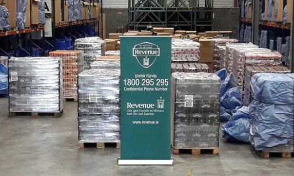 Contraband beer seized at Dublin Port Picture: Revenue