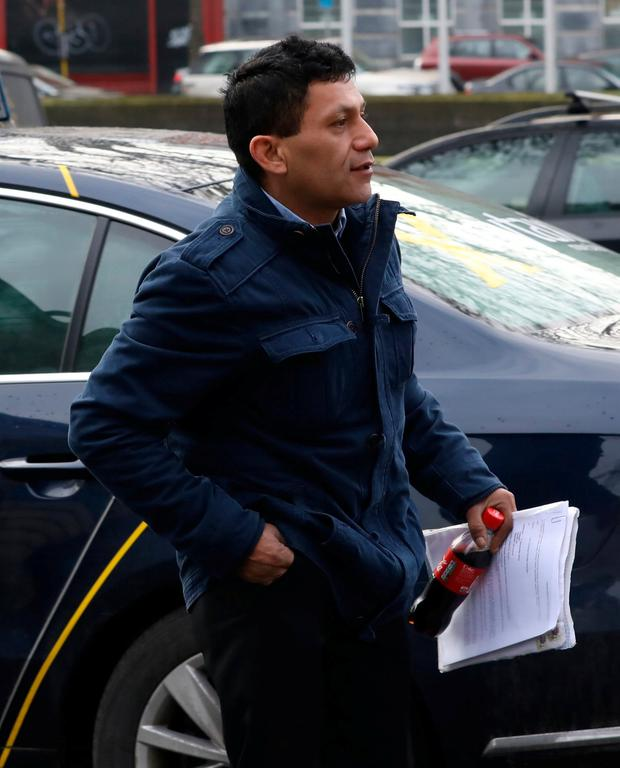 Juan Domingo Morales originally from Mexico pictured at the Four Courts today for a High Court action Pic: Collins Courts