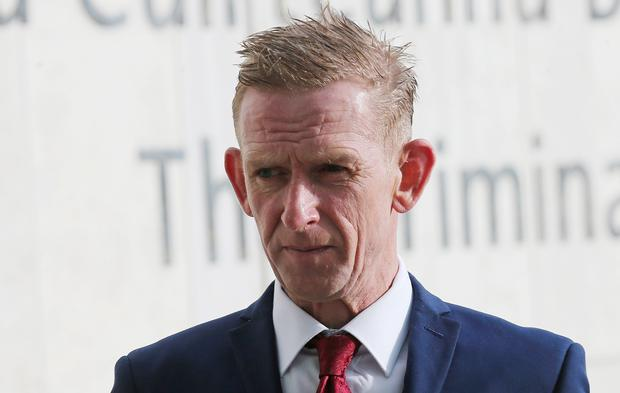 Patrick McArdle (48) of Forest Park, Drumintree, Co. Armagh arrives at the Dublin Circuit Criminal Court today where he received a sentence of 10 months. He previously pleaded guilty to careless driving causing the death of a motorcyclist, Slawomir Korytowski at North Wall Quay in Dublin on July 3, 2015. Pic Collins Courts.