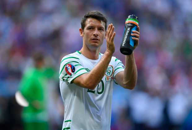26 June 2016; Wes Hoolahan of Republic of Ireland following the UEFA Euro 2016 Round of 16 match between France and Republic of Ireland at Stade des Lumieres in Lyon, France. Photo by Stephen McCarthy/Sportsfile