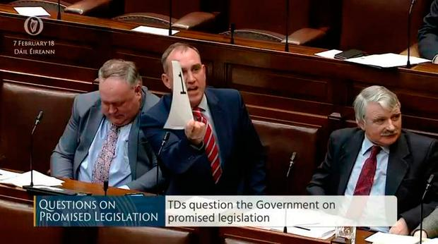 Marc MacSharry became angry at the Healy-Rae brothers as he waited, 11th in line, to ask the Taoiseach a question