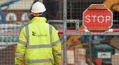 British construction and services company Carillion, which employed over 43,000 people globally, collapsed last month when its banks halted funding, triggering Britain's biggest corporate failure in a decade. Photo: PA Wire
