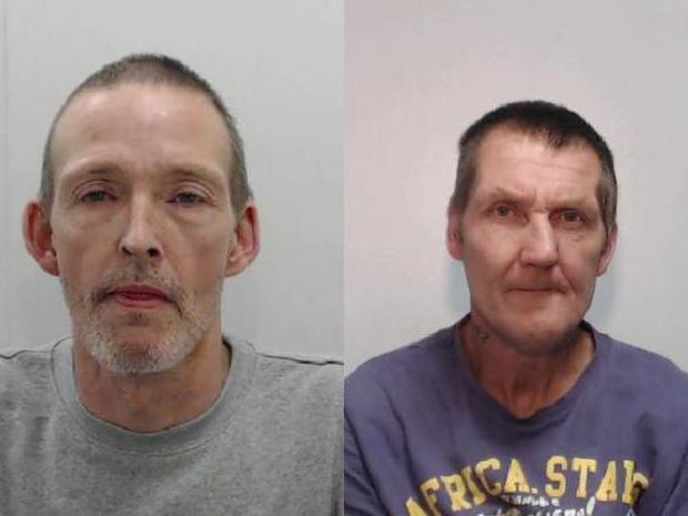 Darren Bagnell, left, and John McCarthy were each jailed for two years and six months (Greater Manchester Police)