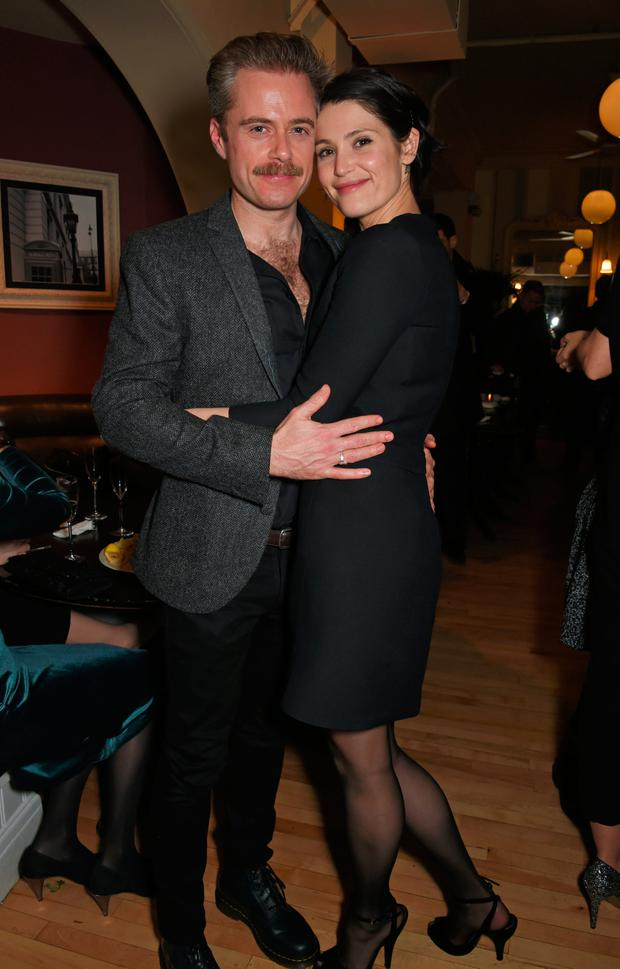 Rory Keenan (L) and Gemma Arterton attend the press night after party of