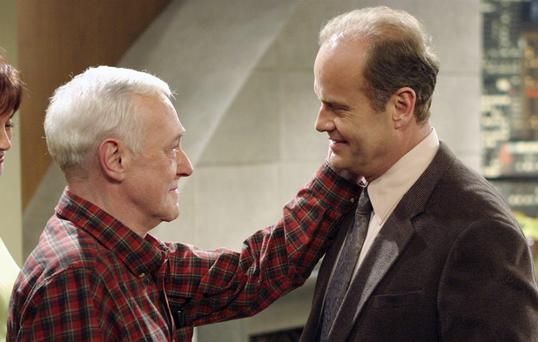 John Mahoney and Kelsey Grammer on Frasier