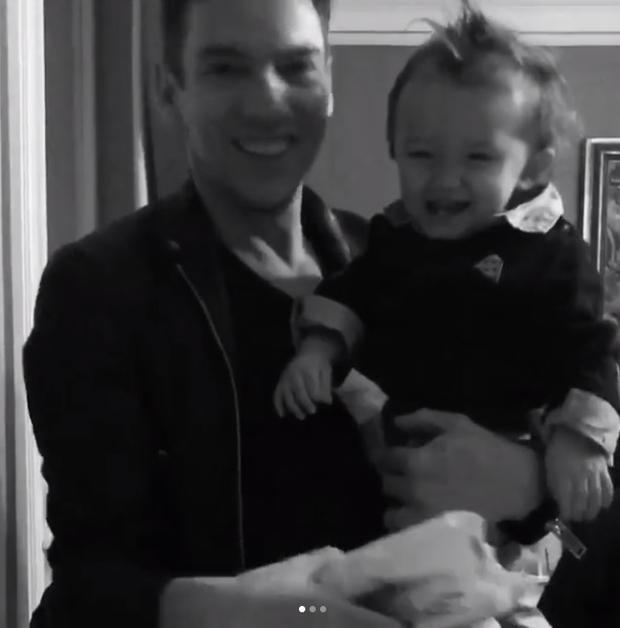 Mara Lane and Jonathan Rhys Meyers' baby son Wolf. Picture: Instagram