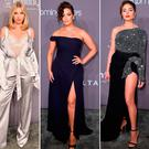(L to R) Elsa Hosk, Ashley Graham, Olivia Culpo, Joan Smalls and Hailey Baldwin at the amfAR gala