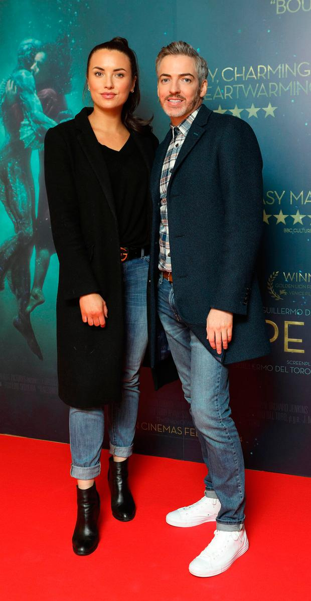 Holly Carpenter and Dillon St.Paul at the Irish premiere of The Shape of Water at The Lighthouse Cinema, Dublin. Picture: Brian McEvoy Photography