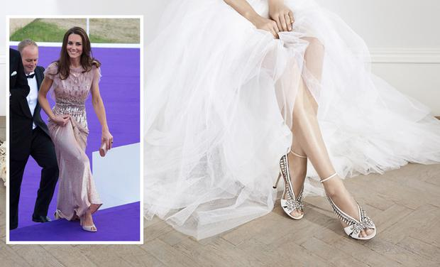 4554342f186 Kate Middleton s two favourite designers collaborate on stunning wedding  shoe collection