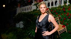 Kate Upton attends the AMORE cocktail reception hosted by Ricardo Rojas and Jim Mannino on the Lemon Lemon Terrace during the 70th Annual Cannes Film Festival at Villa AH on May 24, 2017 in Cannes, France. (Photo by Andreas Rentz/Getty Images for Artist for Peace and Justice)