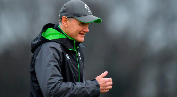 Head coach Joe Schmidt during Ireland Rugby squad training at Carton House in Kildare. Photo by Brendan Moran/Sportsfile