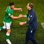 Wes Hoolahan of Republic of Ireland shakes hands with manager Martin O'Neill