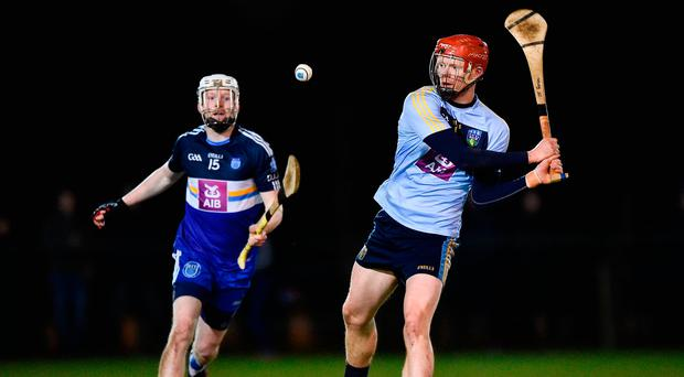 DJ Foran of University College Dublin in action against Fiontan McGibb of Dublin Institute of Technology. Photo: Seb Daly/Sportsfile