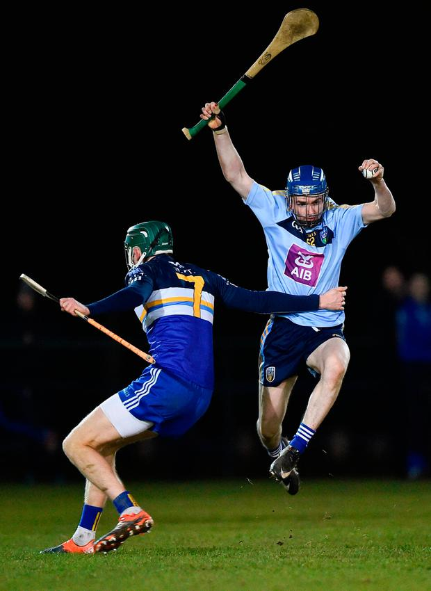 Jack Mullany of University College Dublin in action against Luke Kelly of Dublin Institute of Technology. Photo: Seb Daly/Sportsfile