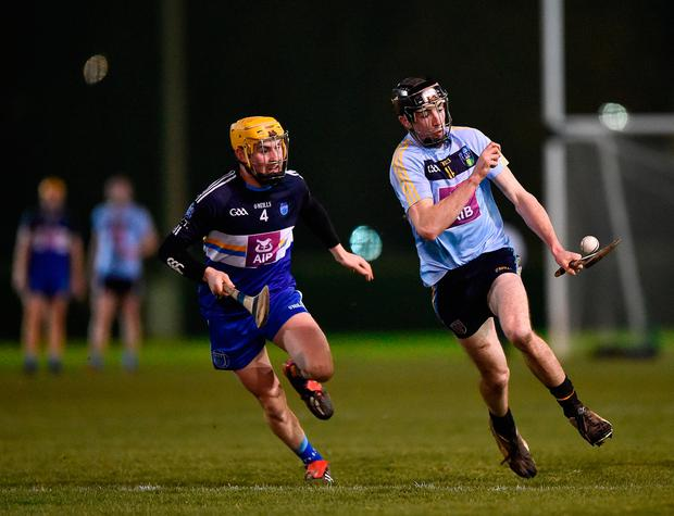 Tom Phelan of University College Dublin in action against Philip Cass of Dublin Institute of Technology. Photo: Seb Daly/Sportsfile