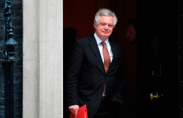 Britain's Brexit Secretary David Davis leaving 10 Downing Street, London, after a Cabinet meeting. Picture: Victoria Jones/PA Wire