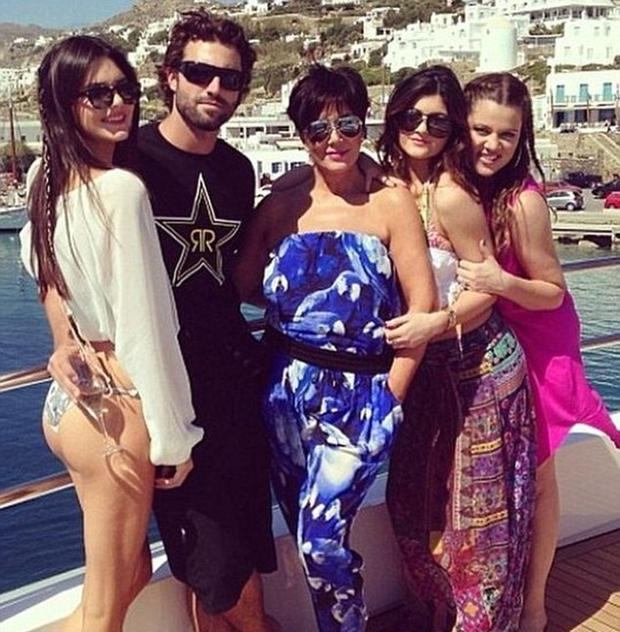 Brody Jenner with sisters Kendall and Kylie, former stepmother Kris Jenner and Khloe Kardashian. Picture: Instagram